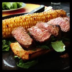 Bild für Steak-Sandwich mit gegrilltem Mais