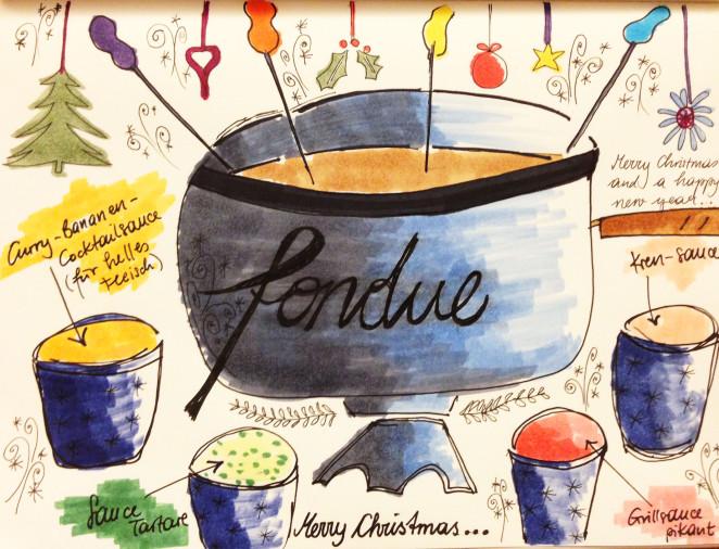 Über klassische Weihnachtsgerichte und köstliche Fondue-Saucen
