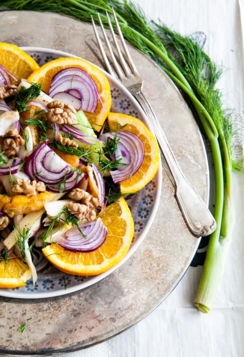 Bild für Fenchel-Salat mit Orangen und Walnüssen
