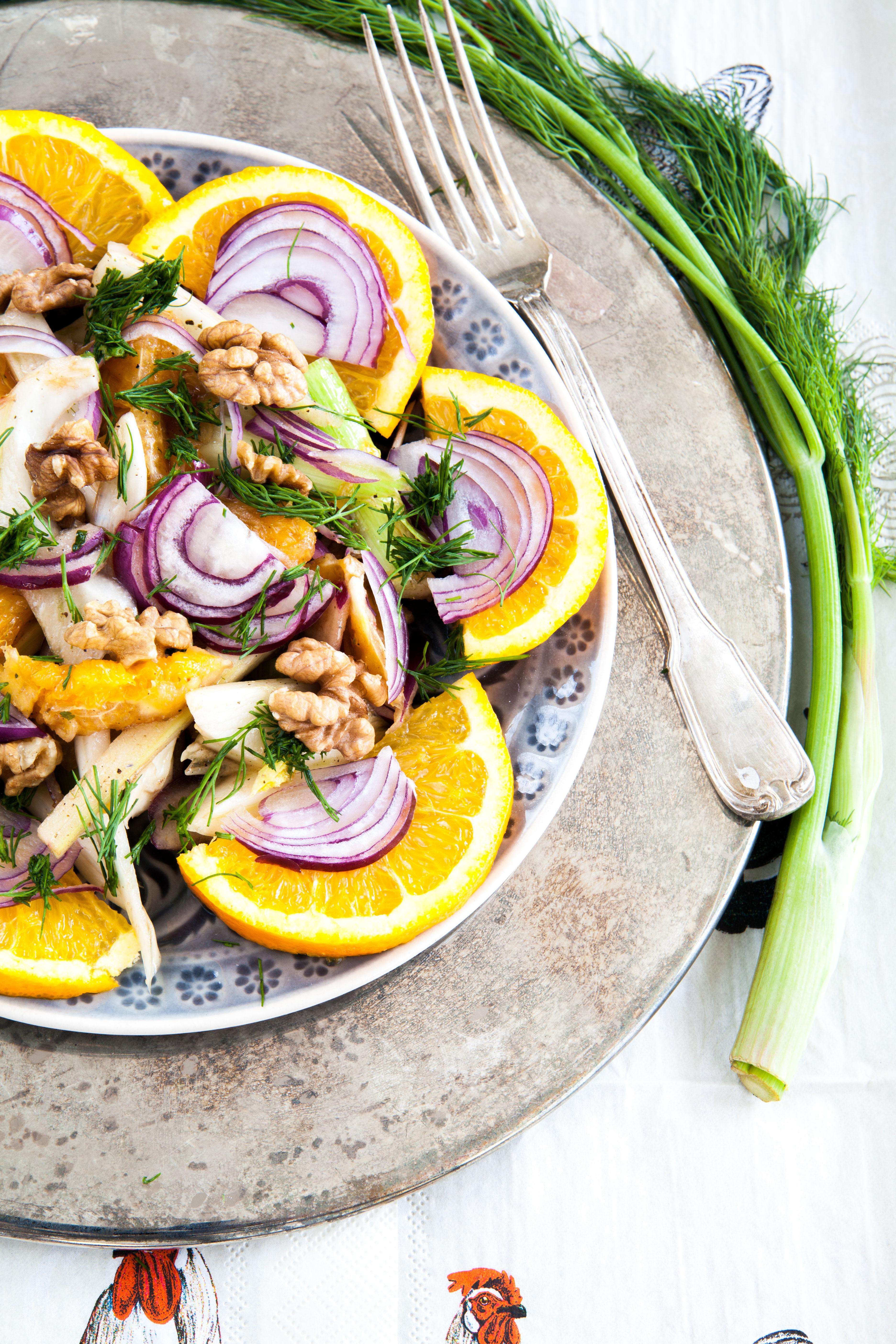 fenchel salat mit orangen und waln ssen foodtastic. Black Bedroom Furniture Sets. Home Design Ideas