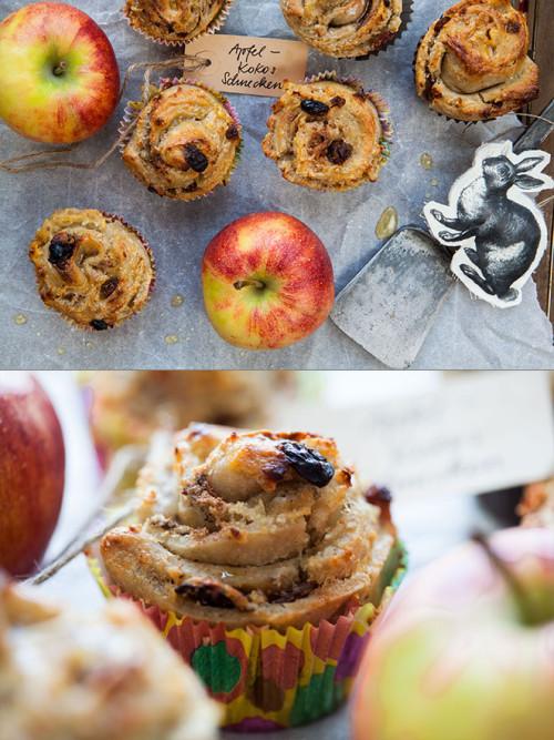Bild für Frohe Ostern mit Apfel-Kokos Schnecken