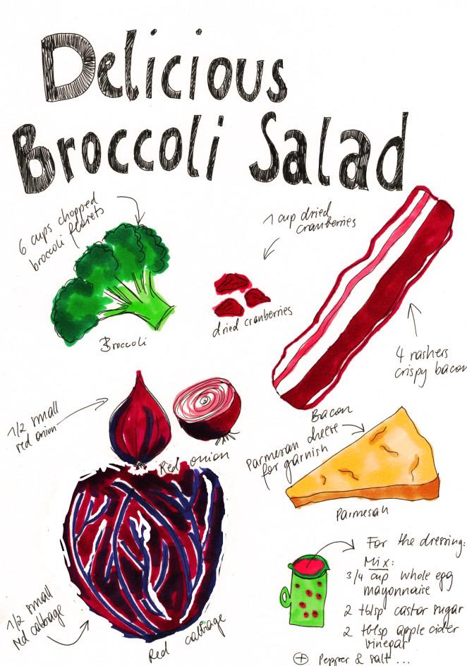 Der Brokkolisalat mit Kick