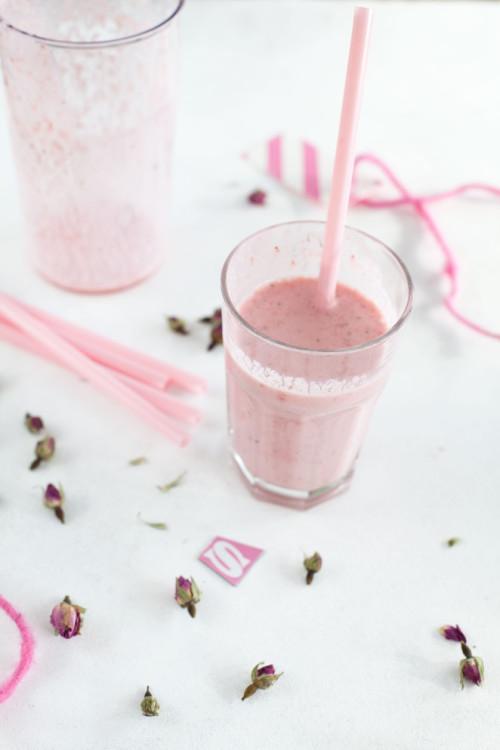Bild für Veganer Erdbeer-Kokos-Milchshake