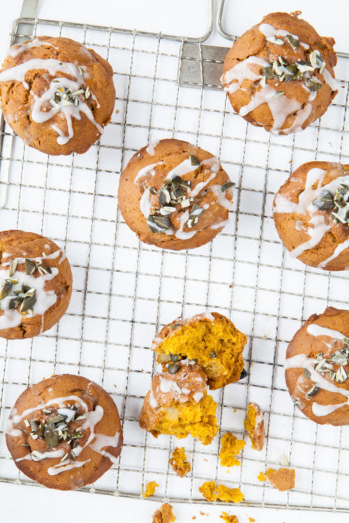Bild für Herbstliche Kürbismuffins mit Birnen