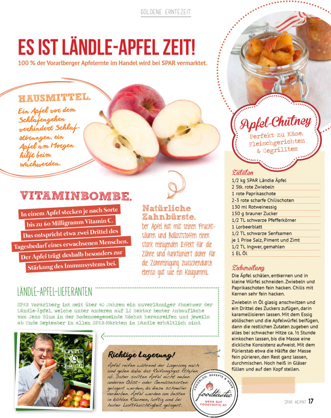 Apple Chutney in the new SPAR HEIMAT