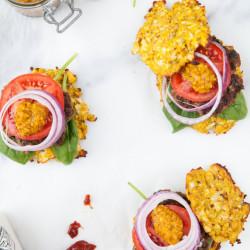 Bild für Paleo-Burger mit Blumenkohl-Brötchen