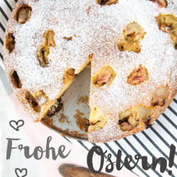 Bild für Happy Ostern mit Rhabarber-Kuchen