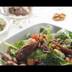 Bild für SONNENTOR Spinatsalat mit gegrilltem Gemüse