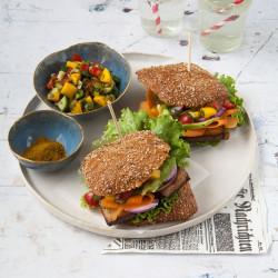 Bild für Burger mit Mango-Salsa