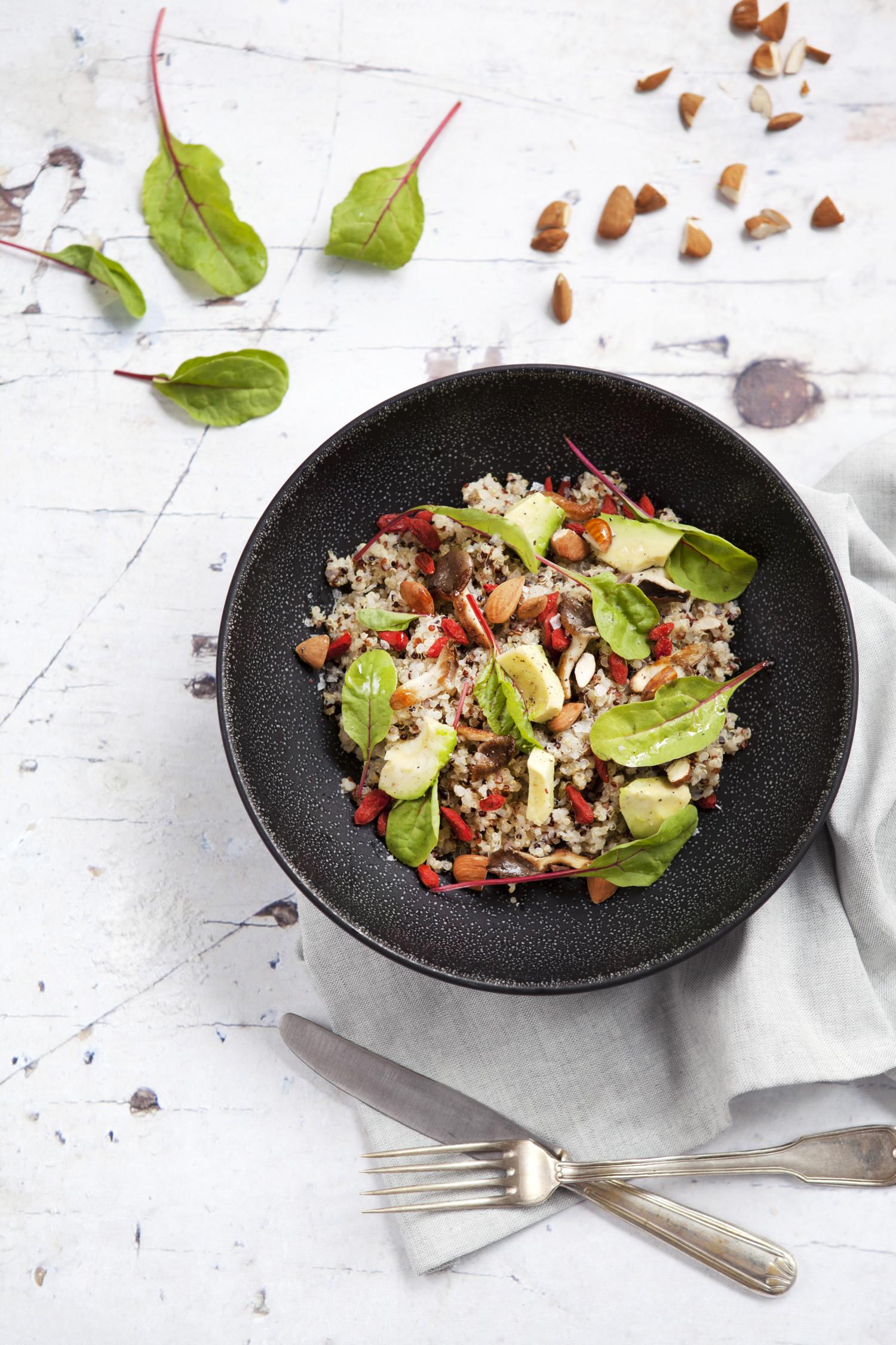 Quinoa Superfood Salad with Shiitake Mushrooms
