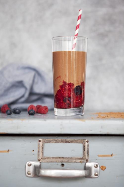 Bild für Beeren-Kakao Energie-Shake