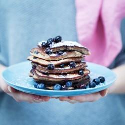 Bild für Mehlfreie Heidelbeer Pancakes