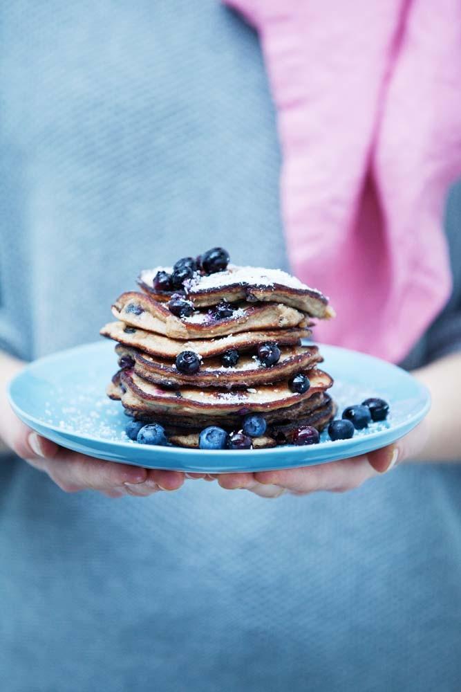 Flourless Blueberry Pancakes