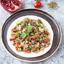 Bild für Quinoa Tabouleh mit Granatapfel im Wrap