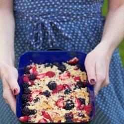 Bild für Sommerlicher Beeren-Crumble
