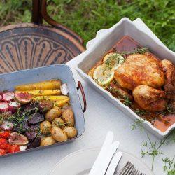 Bild für Ofengemüse und Grillhuhn im Herbst