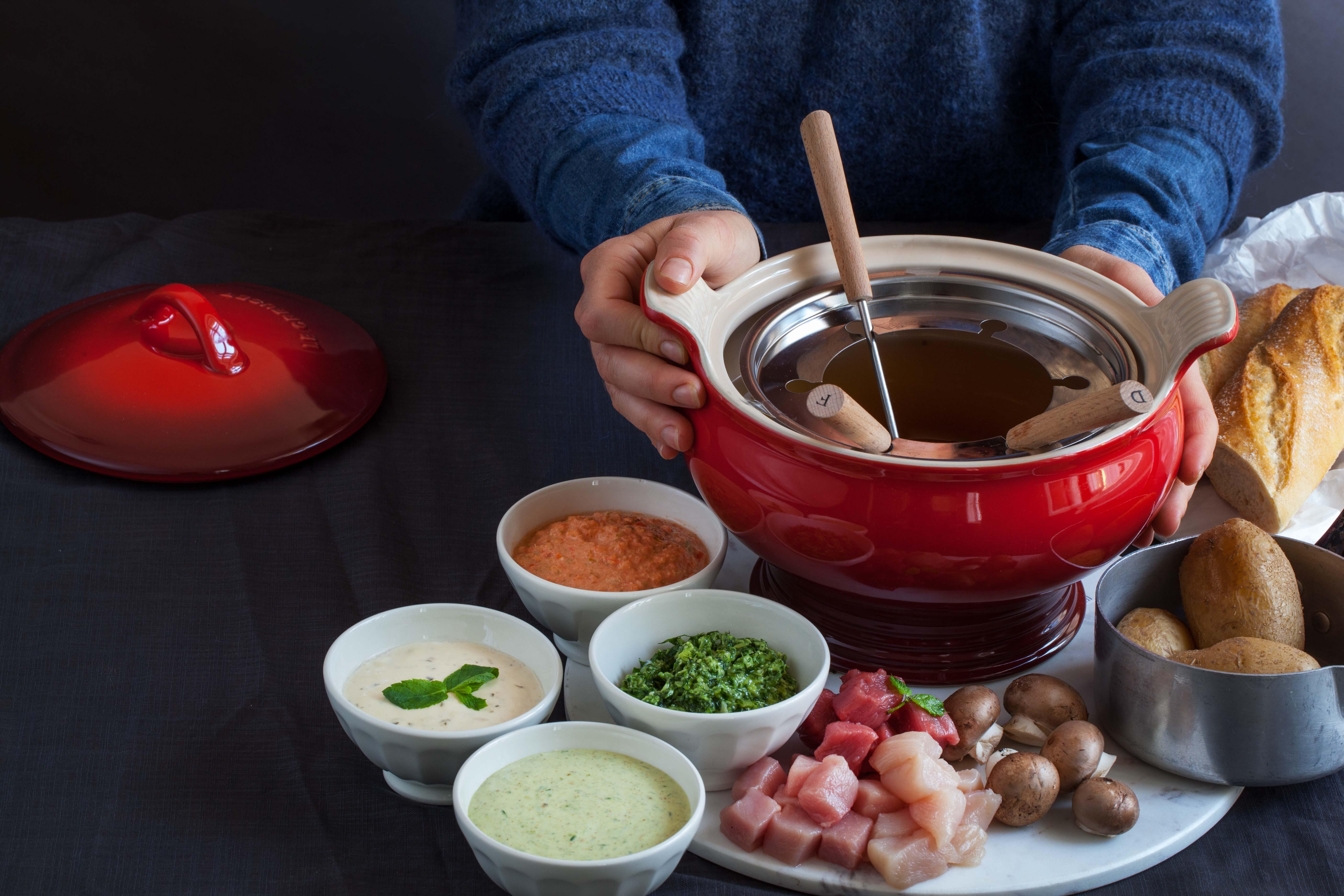 fleisch fondue oder hot pot zu weihnachten foodtastic. Black Bedroom Furniture Sets. Home Design Ideas