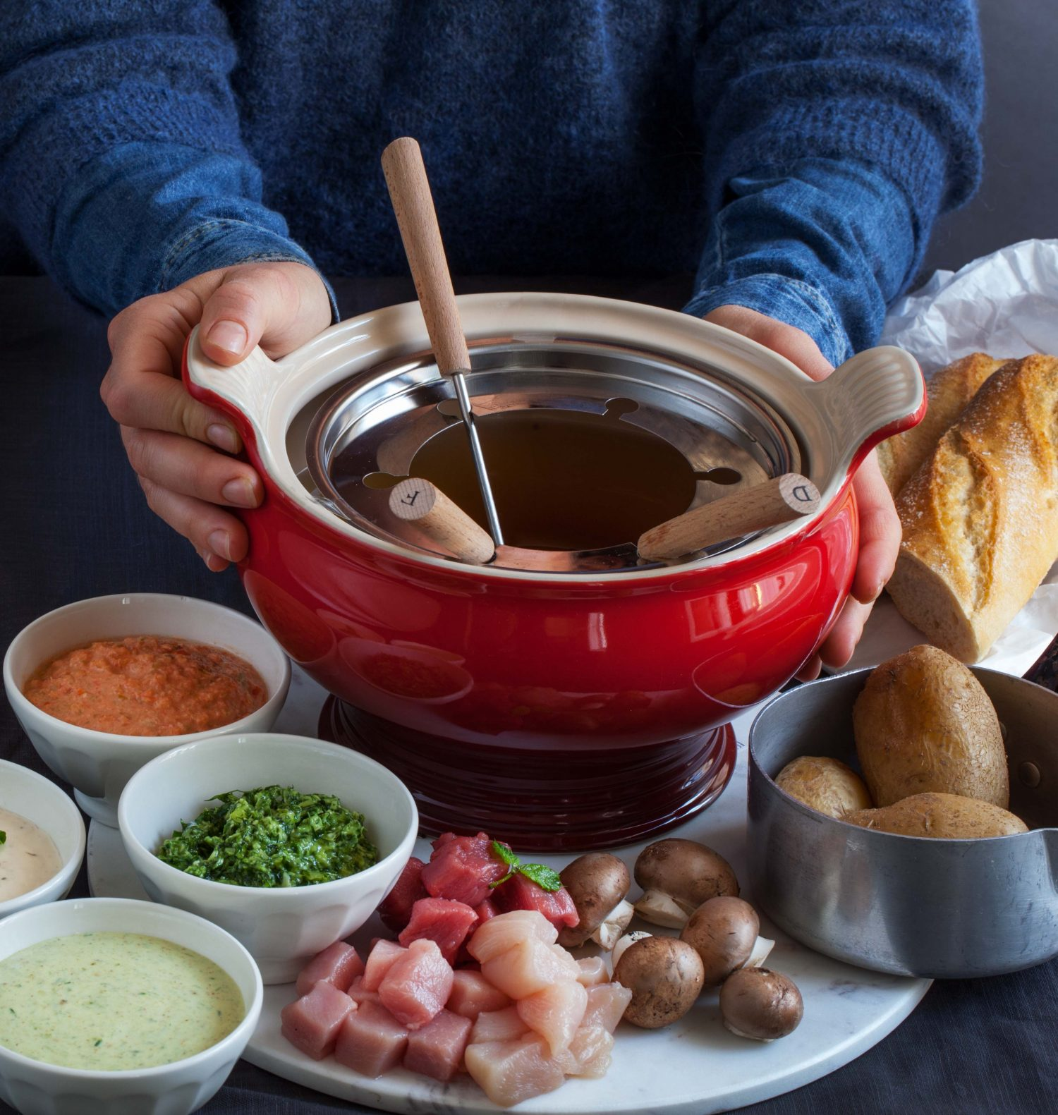 Meat Fondue or Hot Pot for Christmas?