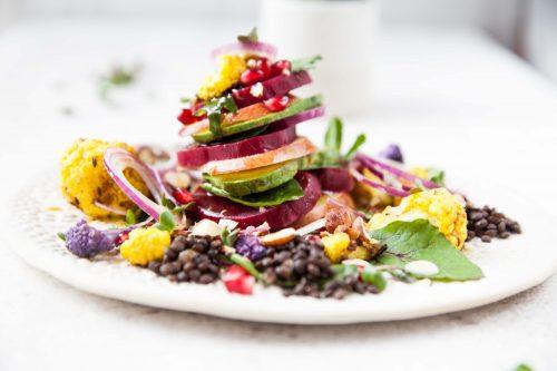 Bild für Bunter Gemüse-Obst Salat