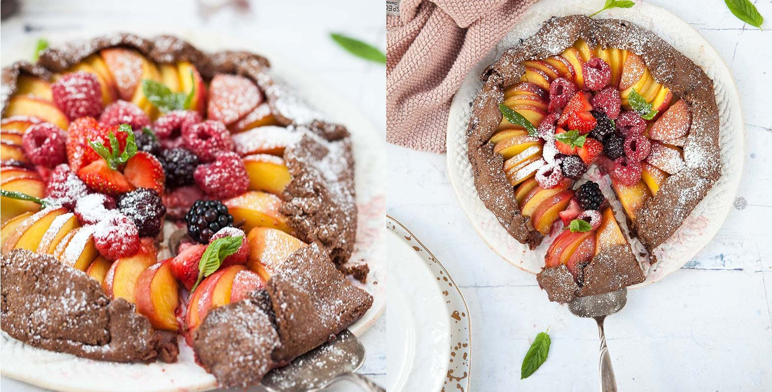 Picture for Peach, Berry and Cocoa Galette