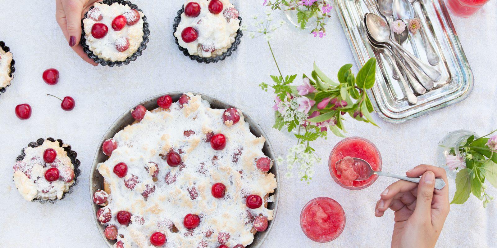 Bild für Kirsch Baiser Kuchen