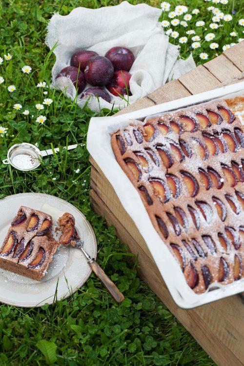Bild für Zwetschgen-Nusskuchen mit Schokolade & Rotwein