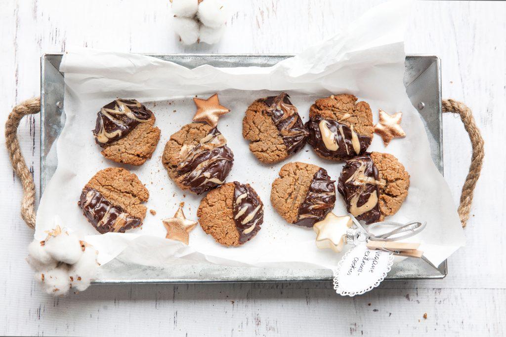 Vegane Erdnussmus-Cookies