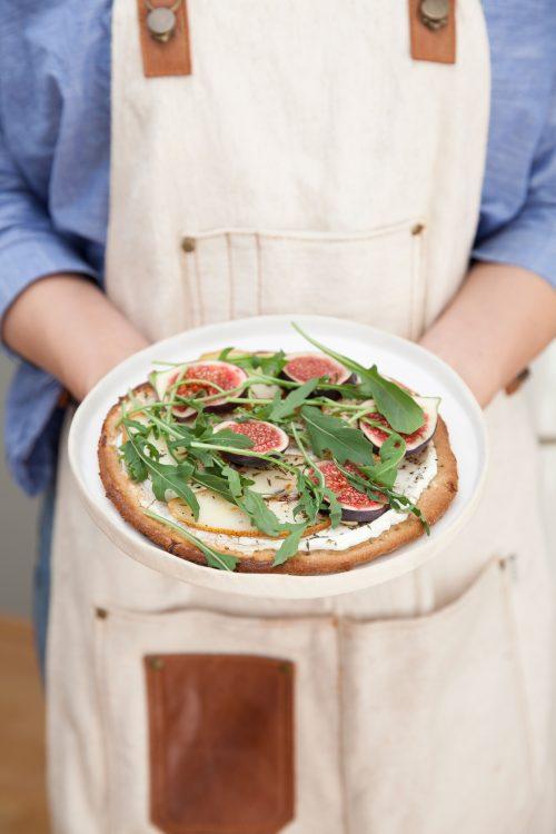 Bild für Glutenfreie-Birnen-Ziegenfrischkäse Pizza