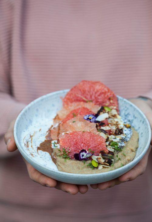 Bild für Amaranth-Grapefruit Porrdige-Bowl