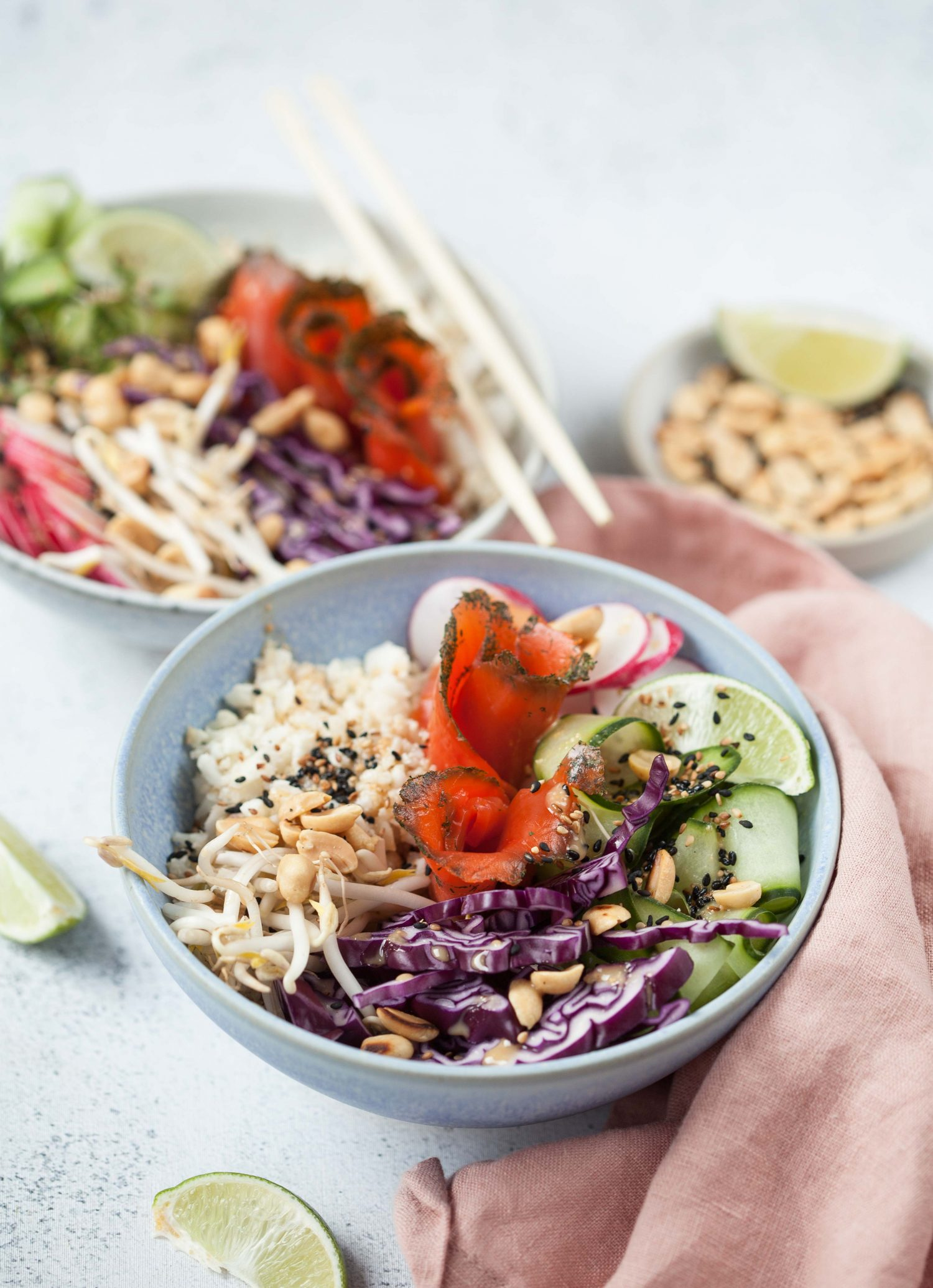 Oster 'Poke-Bowl' mit Wildlachs graved