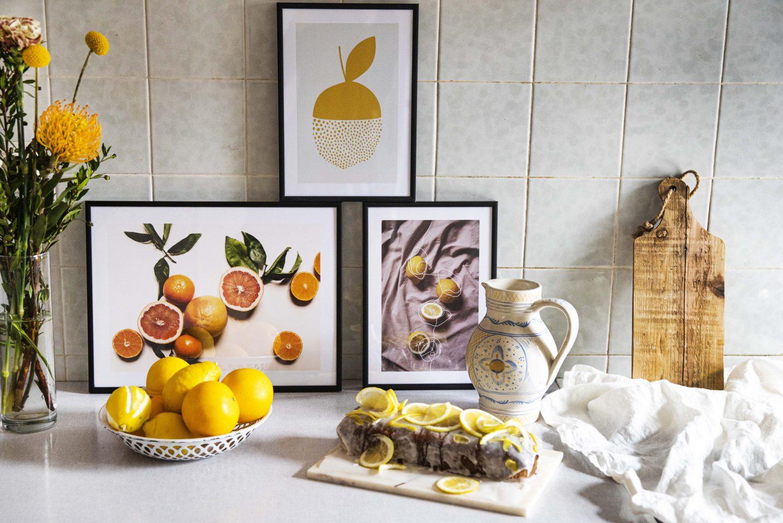 Zitrusfrüchte und Zitrus-Poster erfreuen mich